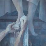 de voetwassing *